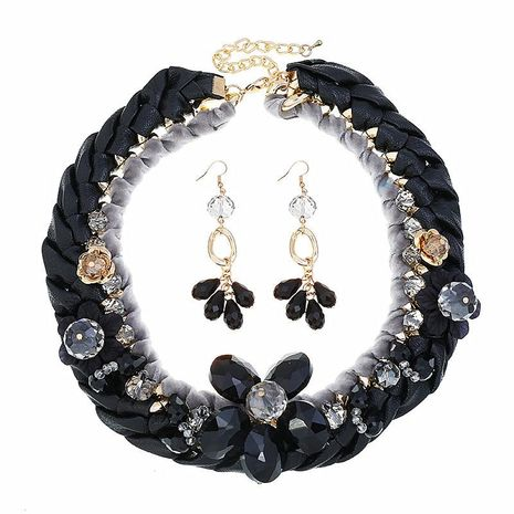 Fashion hand-knitted necklace earrings sets NHVA141888's discount tags
