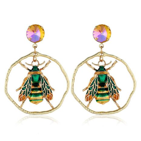 Fashion gemstone insect earrings NHVA141956's discount tags