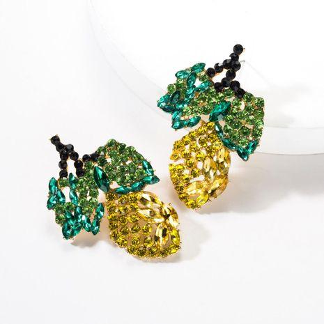 Fashion fruit and rhinestone earrings NHJE141969's discount tags