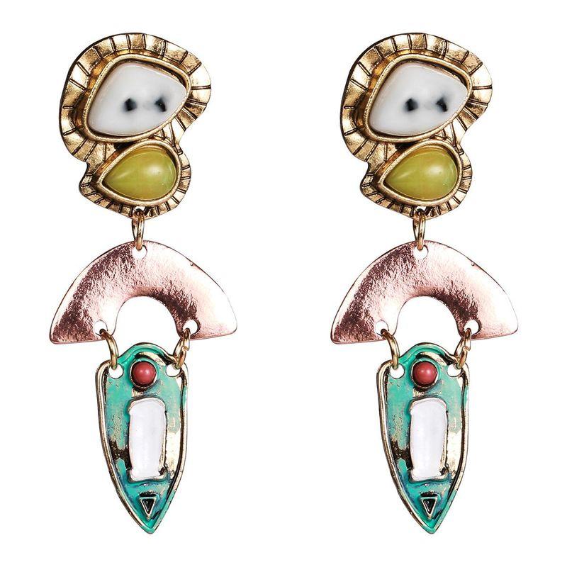Fashion alloy resin earrings NHJE141981