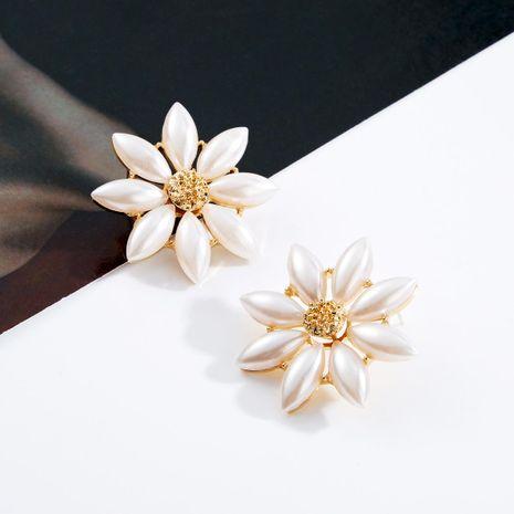 Fresh beads flower earrings NHJE141993's discount tags