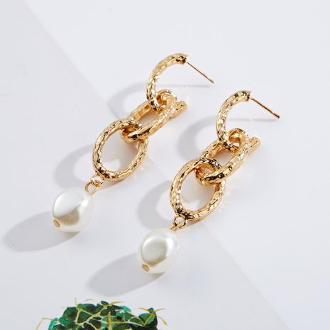 Alloy Chain Beads Earrings NHJE141996's discount tags