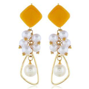 Vintage Acrylic Long Beads Earrings NHVA142001's discount tags
