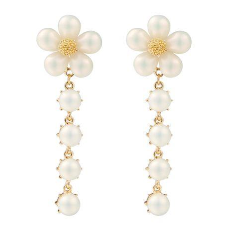 Fashion Beads Flower Long Earrings NHJE142004's discount tags