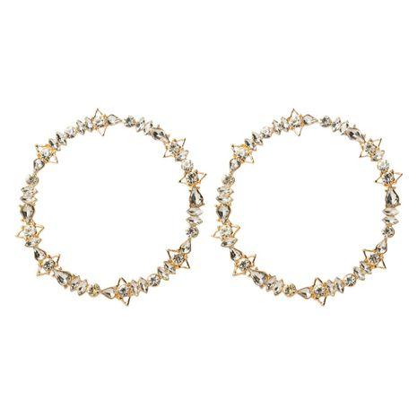 Simple rhinestone large circle earrings NHJE142007's discount tags