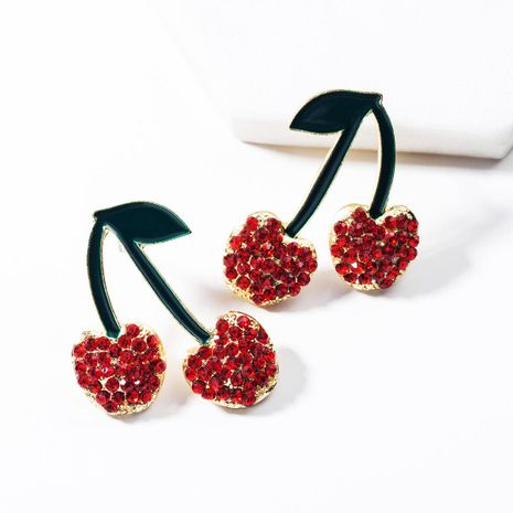 Cute rhinestone-studded earrings NHJE142012's discount tags