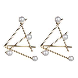 Línea de aleación simple con aretes de perlas. NHJE142032's discount tags
