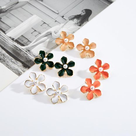 Fashion drip flower floral earrings candy color NHJE142036's discount tags