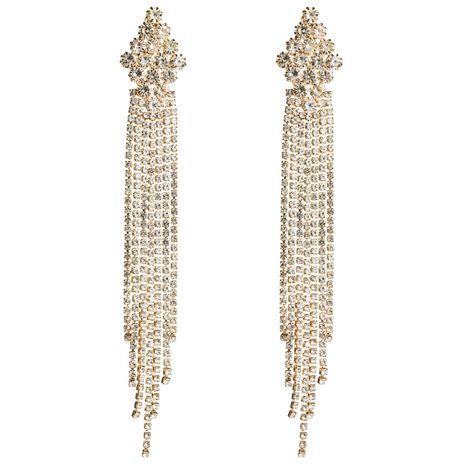 Fashion rhinestone long tassel earrings NHJE142041's discount tags