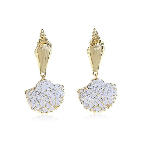 Fashion alloy color shell earrings NHVA142061