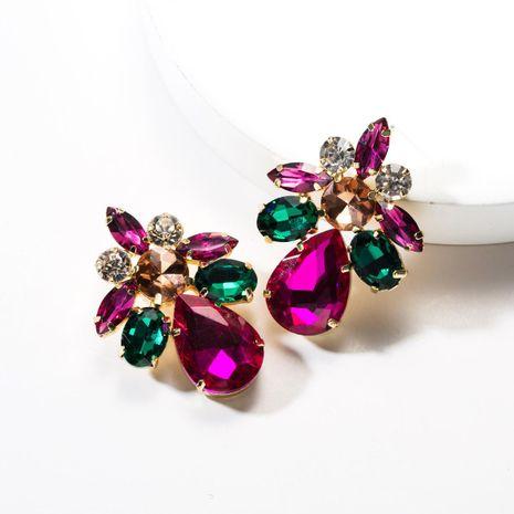 Fashion drop-shaped acrylic rhinestone earrings NHJE142065's discount tags