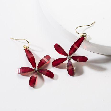Cute resin flower earrings NHJE142066's discount tags