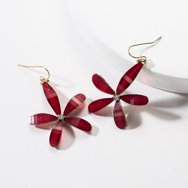 Cute resin flower earrings NHJE142066