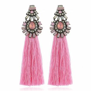 Aretes de borla con tachuelas para mujer de moda NHVA142073's discount tags