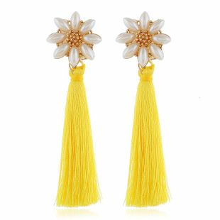 Aretes de borla de perlas vintage de moda NHVA142076's discount tags