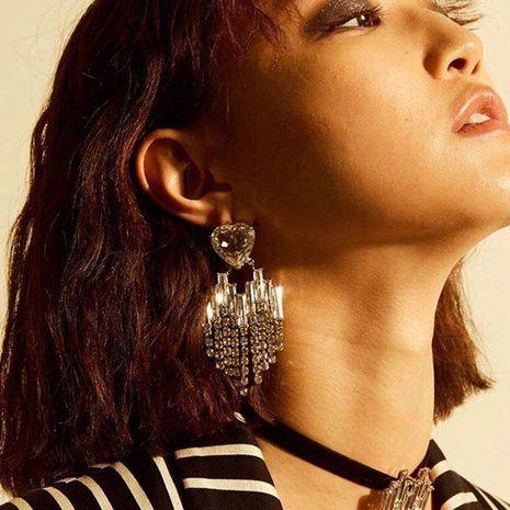 Fashion love multi-layer tassel geometric earrings NHJE142078's discount tags