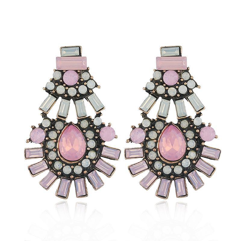 Fashion rhinestone earrings NHVA142082