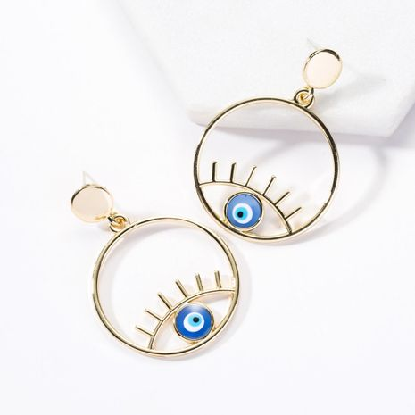 Fashion Round Alloy Eye Earrings NHJE142083's discount tags