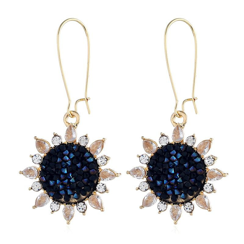 Fashion alloy sun earrings NHVA142086