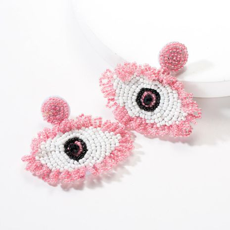 Fashion beaded eye earrings multicolored NHJE142091's discount tags