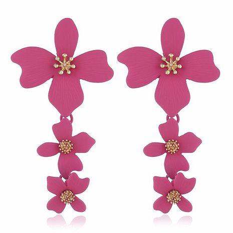 Fashion long flower alloy earrings NHVA142092's discount tags