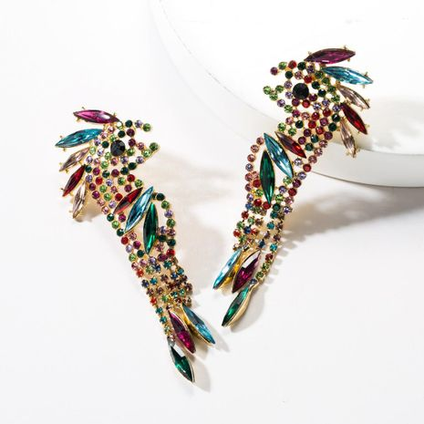 Fashioned colored rhinestone birds earrings NHJE142093's discount tags