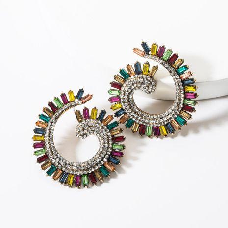 Fashion Acrylic Rhinestone C-shaped Earrings NHJE142099's discount tags
