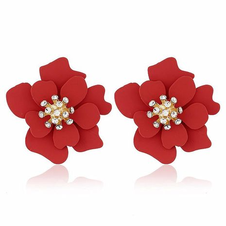 Fashion flower alloy earrings NHVA142103's discount tags