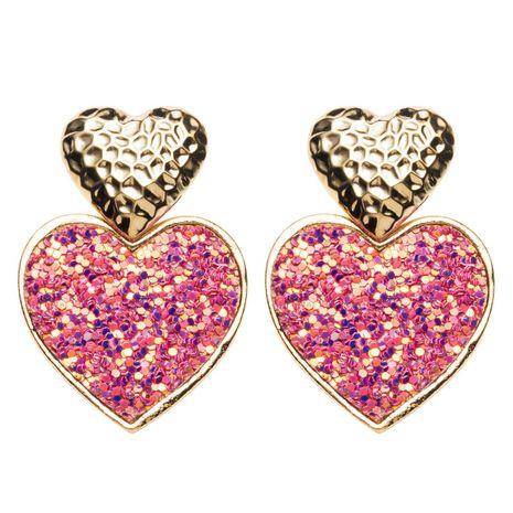 Fashion alloy heart-shaped earrings NHJE142104's discount tags