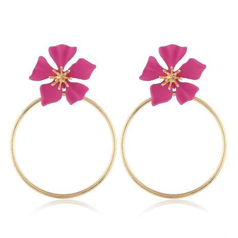 Fashion Alloy Multicolor Ring Flower Earrings NHVA142105's discount tags