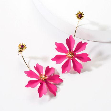 Fashion alloy spray paint flower earrings NHJE142106's discount tags