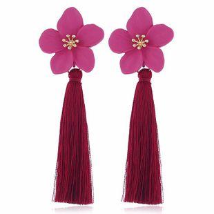 Aretes de borla de flores de aleación de moda NHVA142107's discount tags