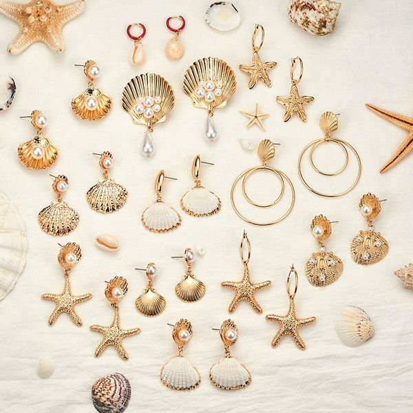 Fashion Natural Shell Beads Earrings NHOT142111