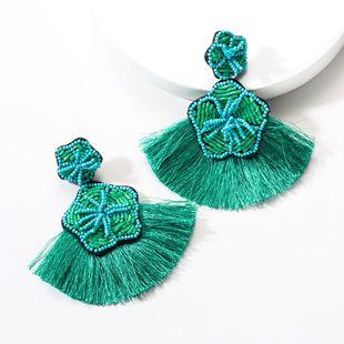 Aretes de borla con cuentas de franela multicapa de moda NHJE142110's discount tags