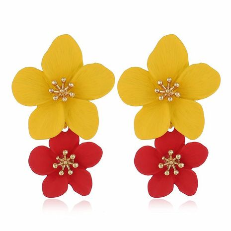 Fashion multicolor trend flower earrings NHVA142112's discount tags