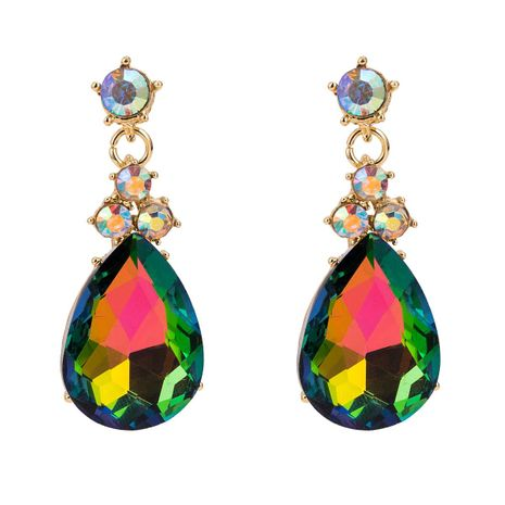 Fashion drop-shaped multi-layer rhinestone earrings NHJE142114's discount tags