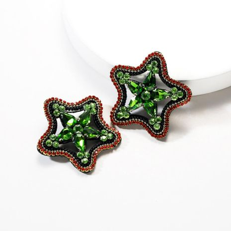 Fashion flannel acrylic studded five-pointed star earrings NHJE142118's discount tags