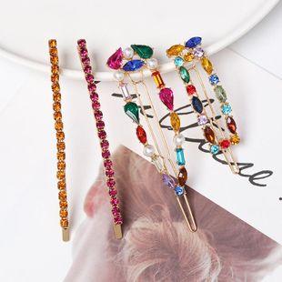 Imitated crystal Rhinestone Studs Hair Clip 4pics NHJJ142133's discount tags