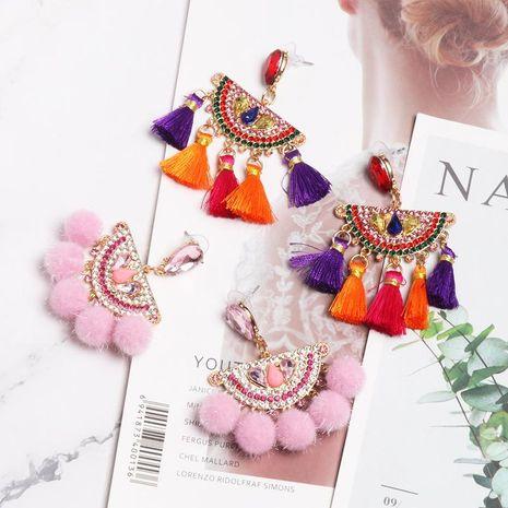 Fashion Rhinestone Bundle Tassel Earrings NHJJ142146's discount tags