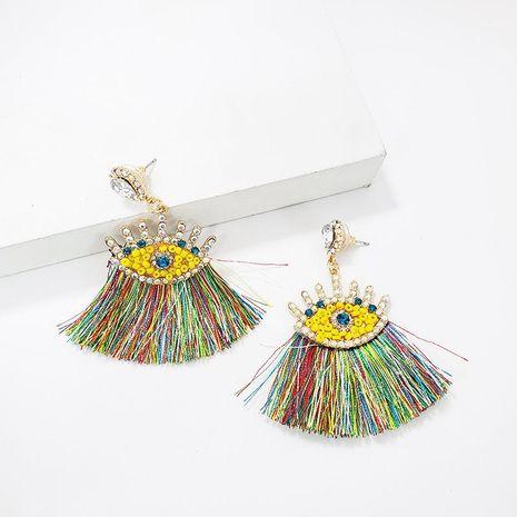 Alloy fringed rhinestone earrings NHJJ142158's discount tags