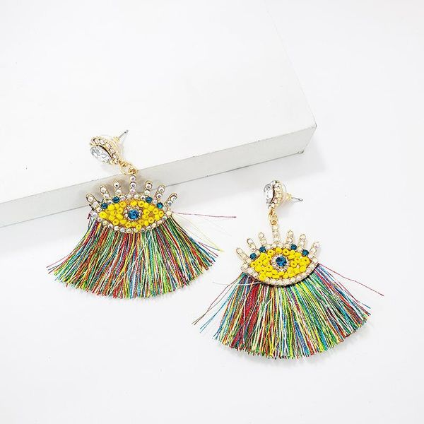 Alloy fringed rhinestone earrings NHJJ142158
