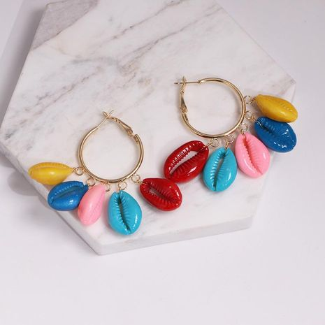 Fashion color shell conch earrings NHJJ142165's discount tags