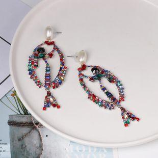 Fashion color rhinestone fish earrings NHJJ142170's discount tags