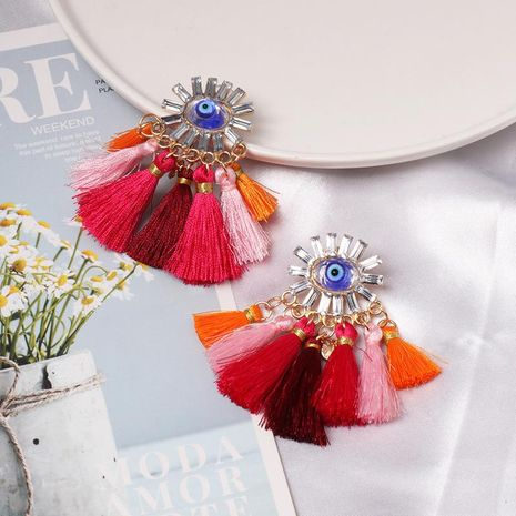 New fringe alloy earrings NHJJ142175's discount tags