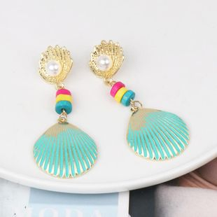 Stylish color shell earrings NHJJ142193's discount tags