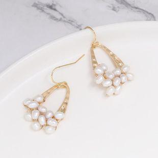 Vintage beads earrings NHJJ142199's discount tags