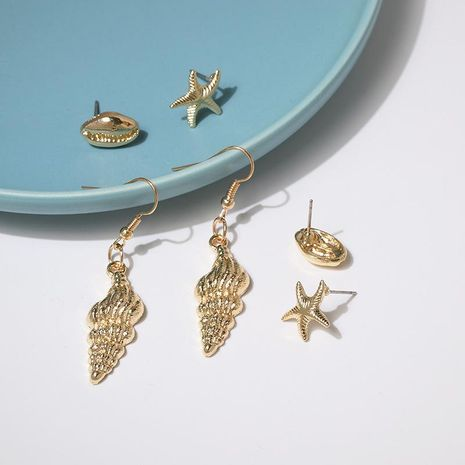 Fashion Shell Starfish Alloy Earrings NHJJ142207's discount tags