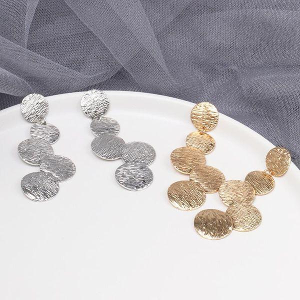 Fashion geometric square alloy earrings NHJJ142214