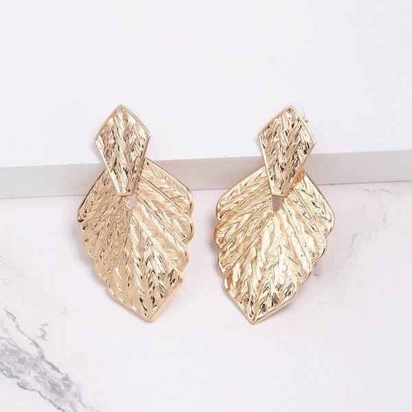 Fashion leaf alloy earrings alloy and alloy NHJJ142217