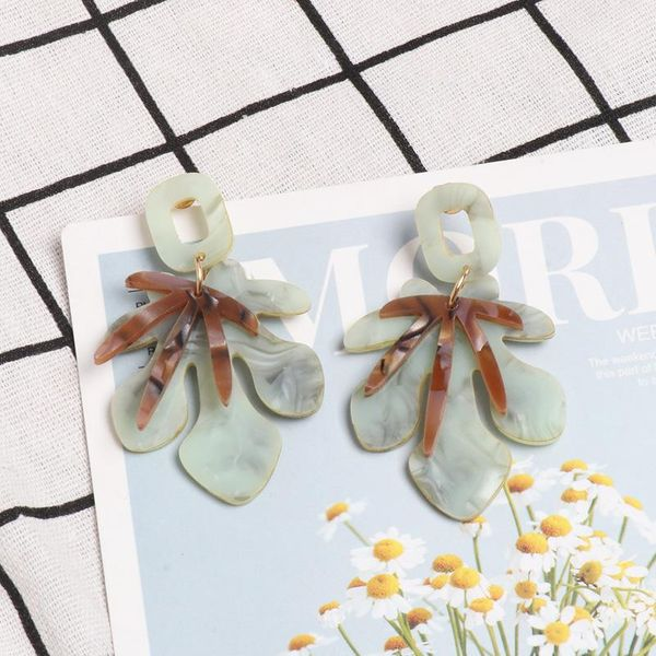 Fashion acrylic flower earrings NHJJ142218